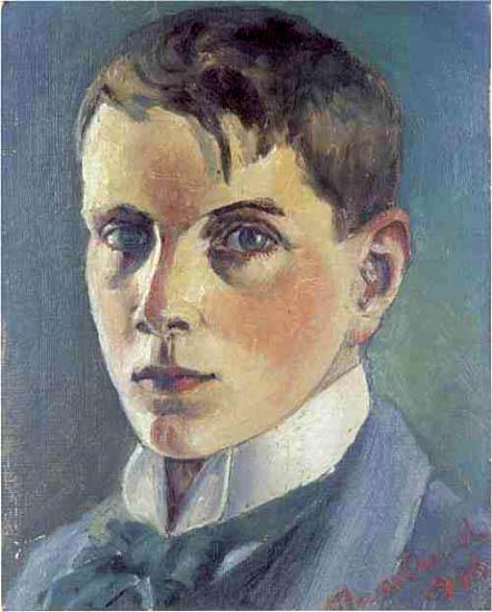 Självporträtt (autoportrait), 1906, huile sur toile