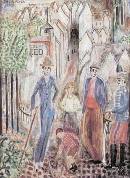 Dans les rues de Senlis (1913).