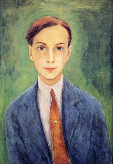 Självporträtt (autoportrait), 1923, aquarelle