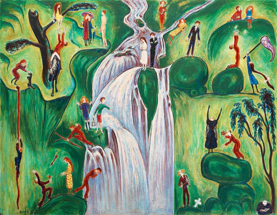 Vattenfallet (la chute d'eau), 1921, toile sur panneau